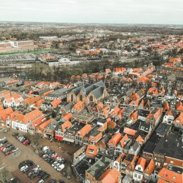 Luchtfoto Noorderkerk Hoorn